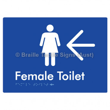 Female Toilet w/ Large Arrow: L