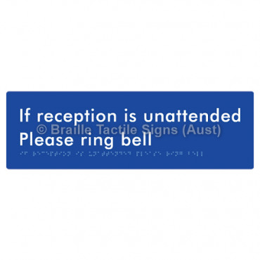 If Reception Is Unattended Please Ring Bell