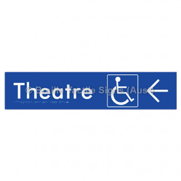 Accessible Theatre Entrance w/ Large Arrow: L