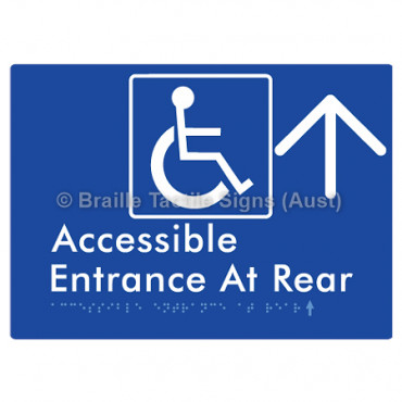 Accessible Entrance at Rear w/ Large Arrow: U