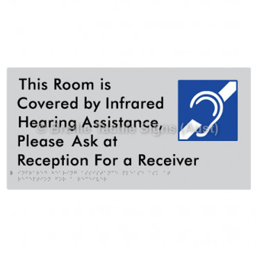 This Room is Covered by Infrared Hearing Assistance, Please Ask at Reception For a Receiver