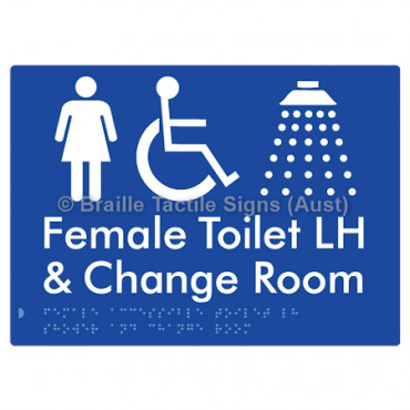 Female Accessible Toilet LH Shower & Change Room