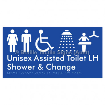 Unisex Assisted Toilet LH Shower & Change