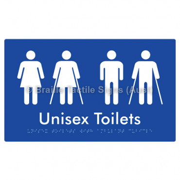 Unisex Toilets with Ambulant Cubicle