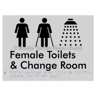Female Toilets with Ambulant Cubicle, Shower and Change Room