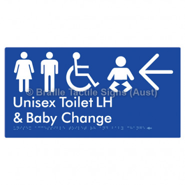 Unisex Accessible Toilet LH and Baby Change w/ Large Arrow: L