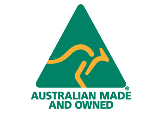 Proudly 100% Australian designed, made & owned